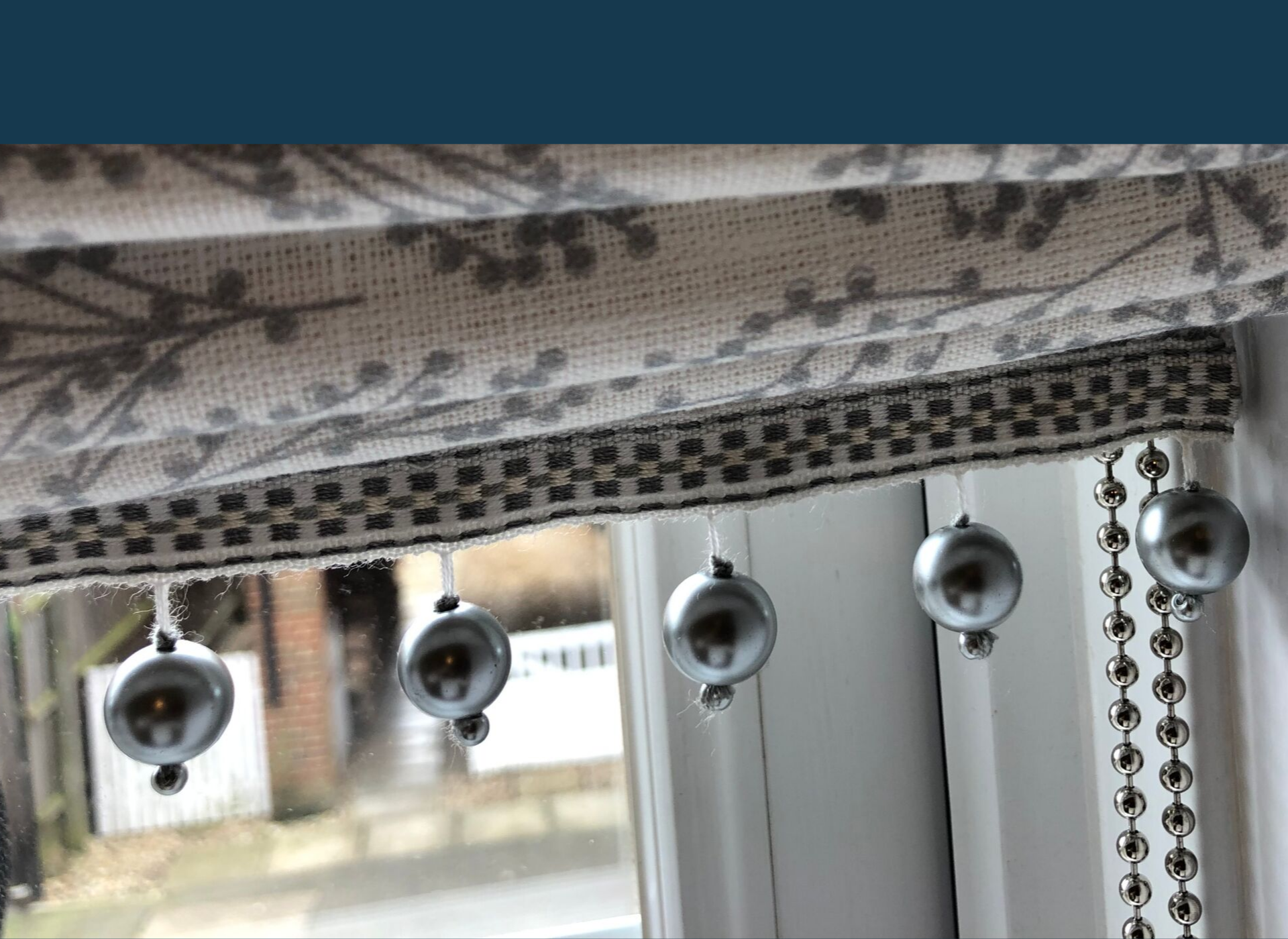Beautiful roman blinds, elegant, sophisticated, chic
