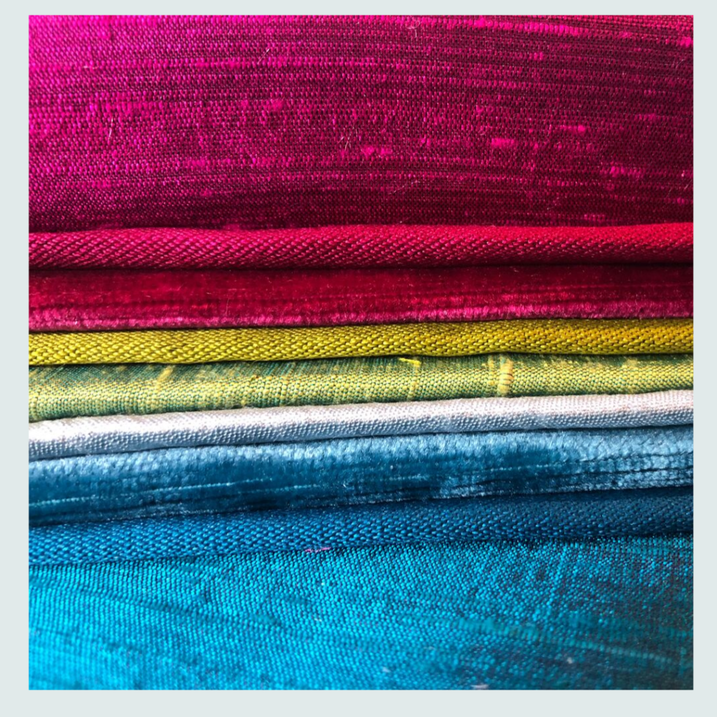 James Hare, (one of Jacqueline's fabric suppliers), fabric samples in hues of grey, fabric supplier for Jacqueline Schultz Interiors