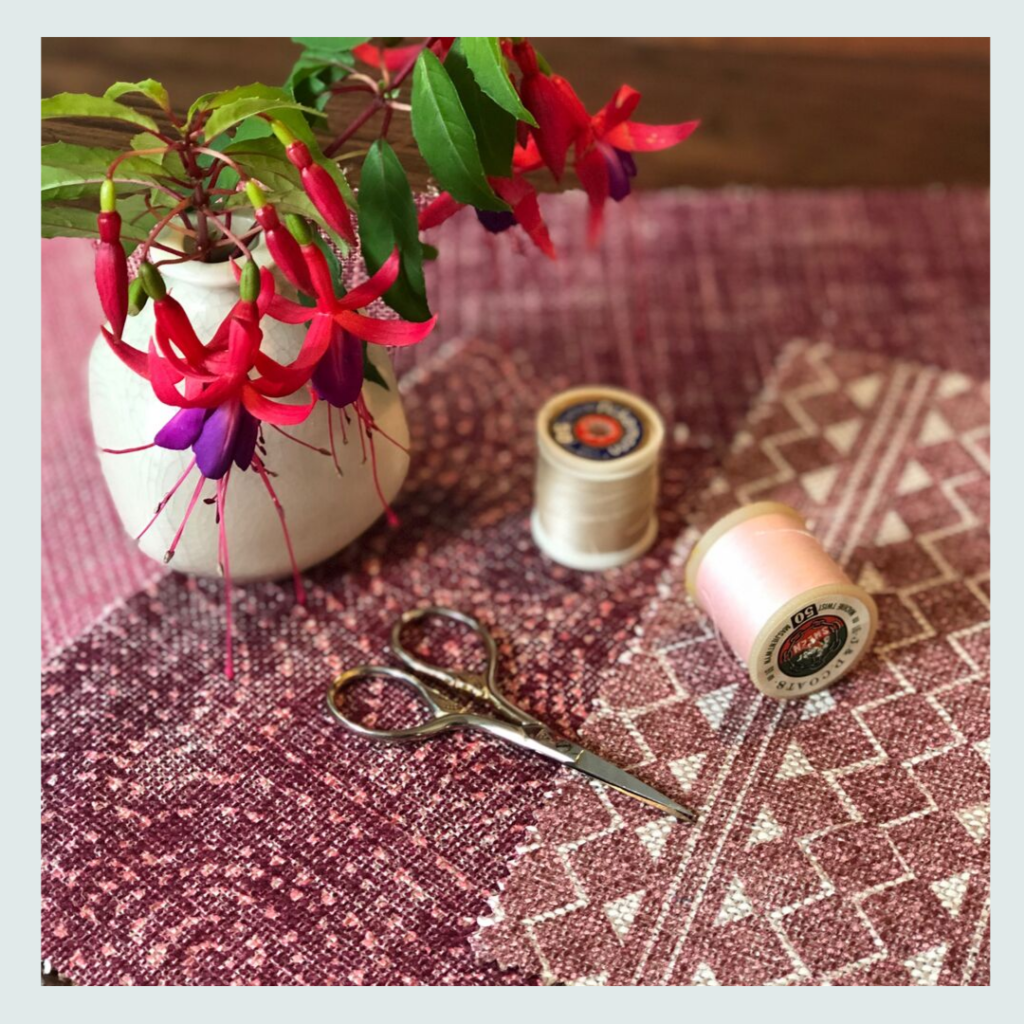 Fermoie, (one of Jacqueline's fabric suppliers), samples in hues of pink, for Jacqueline Schultz Interiors