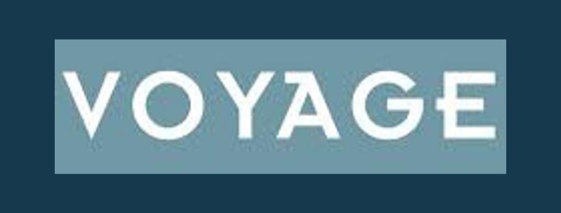 Voyage logo, link to website, fabric supplier for Jacqueline Schultz Interiors