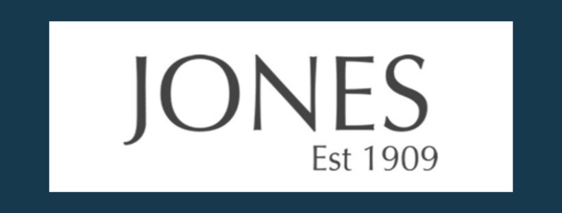 Jones logo, link to website, fabric supplier for Jacqueline Schultz Interiors