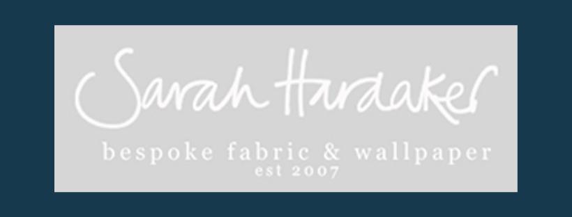 Sarah Hardaker logo, link to website, fabric supplier for Jacqueline Schultz Interiors