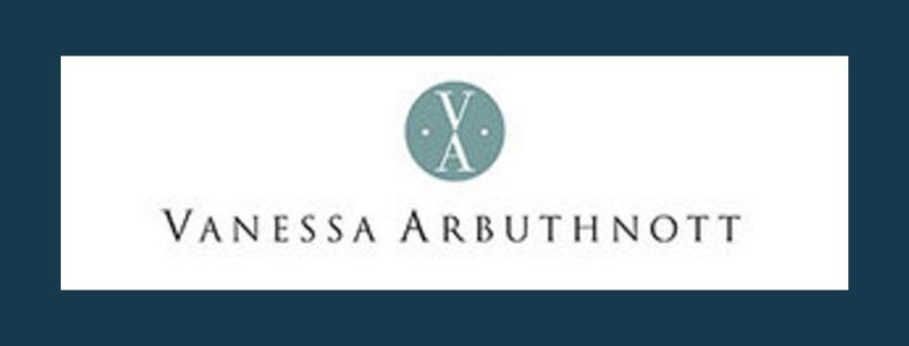 Vanessa Arbuthnott logo, link to website, fabric supplier for Jacqueline Schultz Interiors