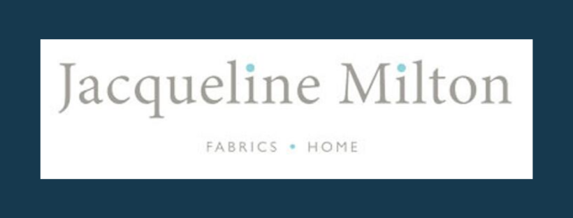 Jacqueline Milton logo, link to website, fabric supplier for Jacqueline Schultz Interiors