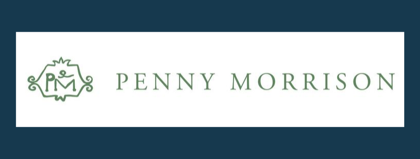 Penny Morrison logo, link to website, fabric supplier for Jacqueline Schultz Interiors