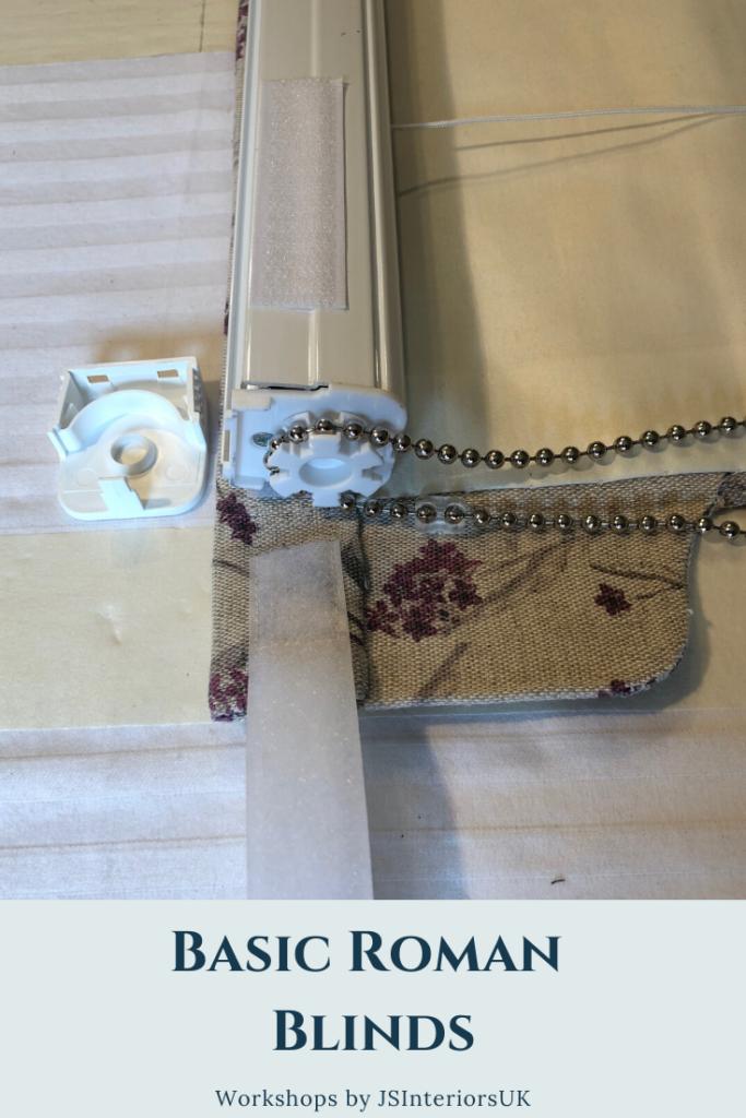 Making bespoke roman blinds - adding a custom chain